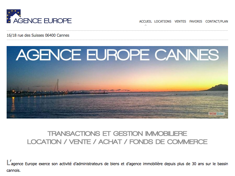 AGENCE EUROPE CANNES